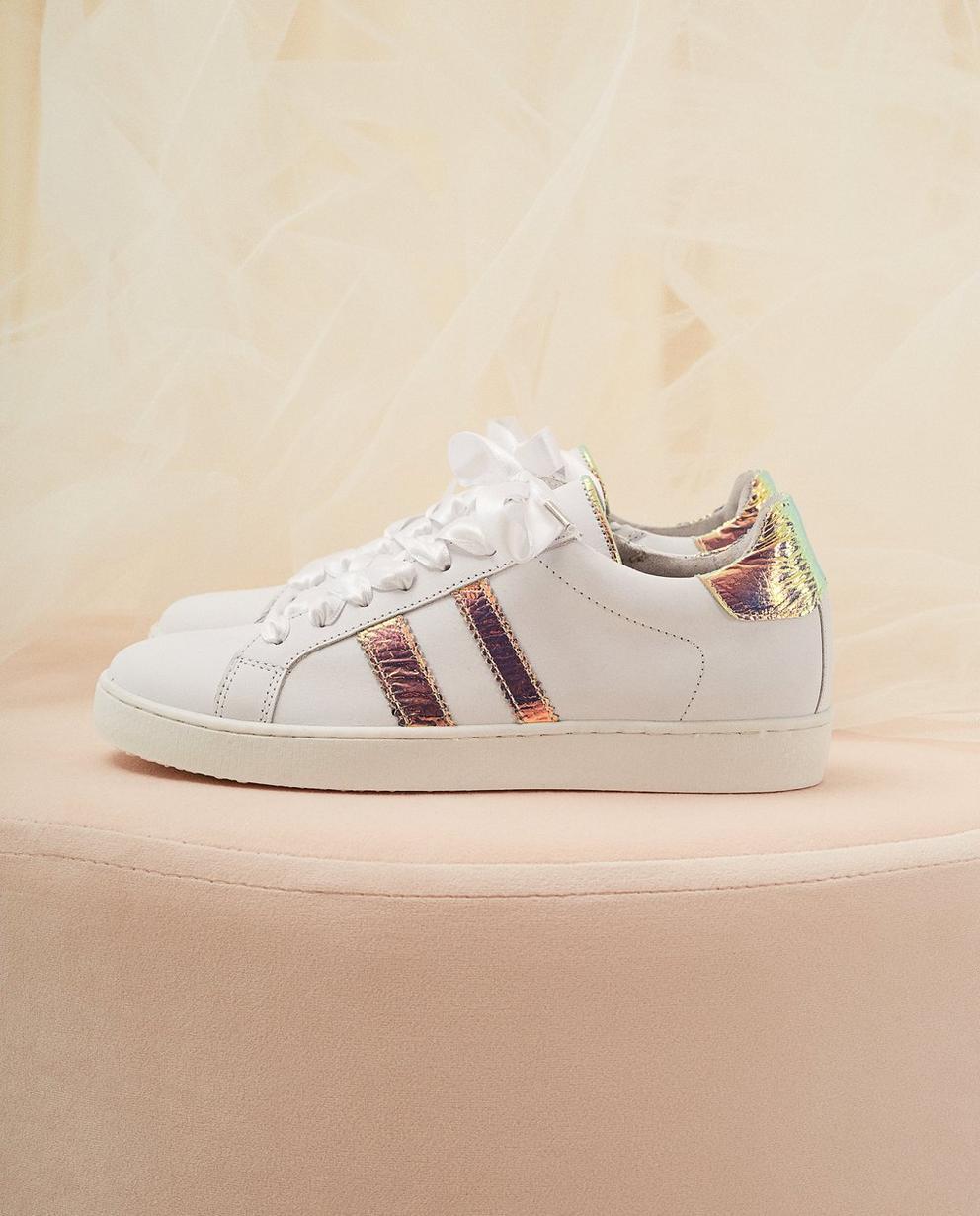 Sneaker aus Leder - mit Schnürsenkel aus Satinband - Milla Star
